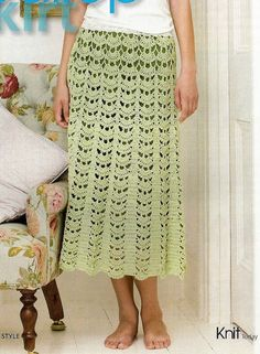 Instant Download - PDF-  Ladies Skirt Crochet Pattern Size 8 - 18