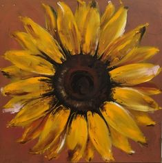 Excited to share the latest addition to my #etsy shop: Large Original Sunflower Painting on Wood Perfect for Fall!