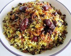 Lentil Rice • Adas Polo •  عدس پلو  Fae's Twist & Tango.                                         One of the best food ever