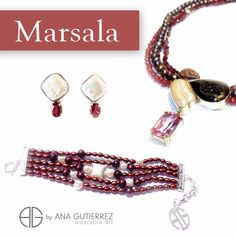 MARSALA is a color of reddish brown roots that evokes nature. Like wine it is a sophisticated, elegant and sober color, but seductive. Ana Gutierrez Wearable Art. Costa Rican Designer. Discover our collections. Come visit us at Grand Bazaar Shops Las Vegas, find us at space 802. Follow us Twitter, Instagram y Pinterest: Ana Gutierrez Art.  #CostaRica #moda #lasvegas #joyas #jewels #design #stones #Marsala #colorpantone2015 #outfit #FashionColorReport