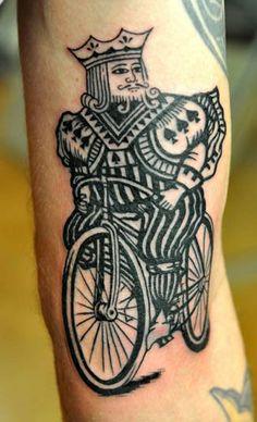 Riding spade       #bicycle #tattoos