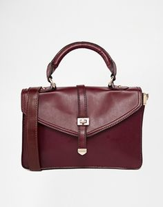 Style London Structured Cross Body Bag With Detachable Strap