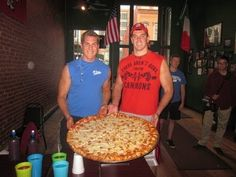 Atlas & Eric Silo Dahl vs Politos 12lb Monster Pizza!!