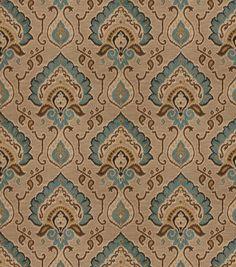 Aqua Blue Orange Fabric Digital Print Upholstery Fabric Navy Blue Emerald Green Floral Furniture Drapery Material Gold Home Decor Fabric Pinterest