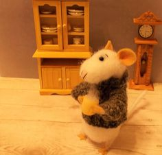 A Needle Felted Mouse  Bink Is A Sculpture Miniature