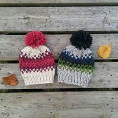Chunky Fair Isle Kids' Knit Hat / Rowling Hat