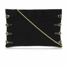 dc0331b5c38 BOOKIE - Buckle Detail Oversized Suede Clutch Bag   Clutch Bags by Dune,  online at