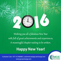 May your new year be blessed with peace, love and joy. Sending you all a heartfelt wishes with joy that never ends. Happy New Year 2016 For more information log on to www.gccexchange.com