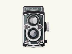 Vintage Camera - Rolleiflex by Patricia Martinez Rolleiflex Camera, Camera Illustration, Graphic Design, Vintage, The World, Fotografia, Vintage Comics, Primitive