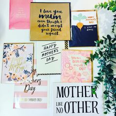 A great range of Mother's Day cards are in store now #foramotherlikenoother #mothersdaycards #lovemum #shutthefrontdoorstore