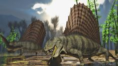 Dimetrodon by PaleoGuy.  These poor guys get lumped in with Triassic, Jurassic and Cretaceous species and get no respect.