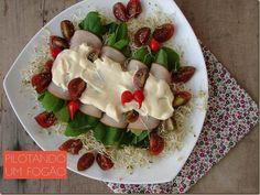 Essa receita de salada é gostosa e muito saudável