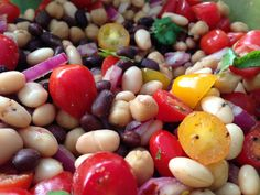 Mexican Three Bean Salad. Fresh and easy! Sooo good! Nutrient-dense and will keep you full for hours. #vegan #nutritiarian