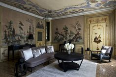 Hotels We Love: Aman Canal Grande Venice | Alcova Tiepolo Suite Living Room | FATHOM