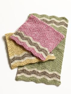 Crochet dishclothes. I love the chevron pattern