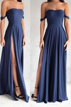 Gorgeous Navy Blue Prom Dresses,Elegant Evening Dresses,Long Formal Gowns,Slit Party Dresses,Chiffon Pageant Formal Dress · Ulass · Online Store Powered by Storenvy Elegant Dresses, Sexy Dresses, Pretty Dresses, Beautiful Dresses, Dress Outfits, Dress Up, Long Dresses, Flowy Prom Dresses, Chiffon Dresses