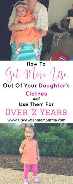 Are you tired of buying new clothes for your kids every 3-6 months? Buying clothes for kids can be expensive. As a mom of 2, I understand the struggle. Check out these parenting hacks & practical tips on how to get more use out of your daughter's clothes and use them for over 2 years. Click on the image to learn more. mom problems | mom struggles | toddler girl clothes | toddler girl outfits | toddler fashion