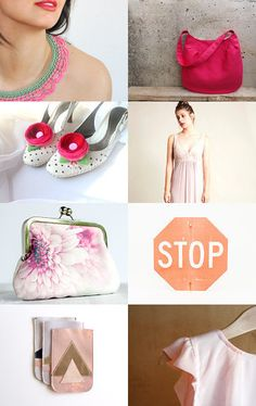 Pink, it was love at first sight by Mammabook on Etsy--Pinned with TreasuryPin.com