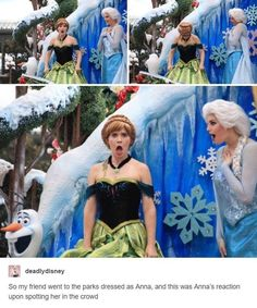 Immagine di anna, disney, and funny. friend went to disney lamd dresed as anna Humour Disney, Funny Disney Memes, Funny Memes, Hilarious, Disneyland Characters Funny, Funny Cartoons, Frozen Characters, Disney Quotes, Disney Cartoons