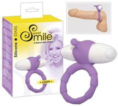 Smile Loop Purple / Vibrierender Penisring für besondere Reize beim Mann, GRATIS Reinigungstuch von Bellavib