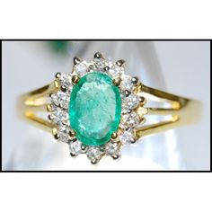 http://rubies.work/0599-emerald-rings/ Solitaire 18K Yellow Gold Diamond Wedding Emerald by BKGjewels