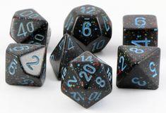 Camo Dice (Blue Stars) RPG Role Playing Game Dice Set – Dark Elf Dice