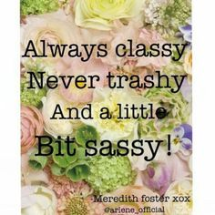 @Eleanor Smith Calder   Classy and sassy ;)