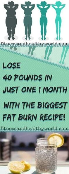 Lose 40 Pounds In Just 1 Month With The Biggest Fat Burn Recipe - sitejackpot Loose Weight, How To Lose Weight Fast, Lose Fat, Brenda Garcia, Belly Fat Burner Workout, Fat Workout, Month Workout, Lose 40 Pounds, Fat Burning Drinks