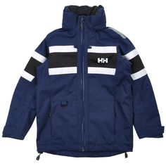 Helly Hansen Jacket (210 CAD) ❤ liked on Polyvore featuring outerwear, jackets, tops, dark blue, pocket jacket, blue turtleneck, helly hansen jackets, long sleeve turtleneck and zipper jacket