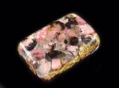 Pocket Orgonite® with Rhodonite Morgonite Fluorite Tibetan