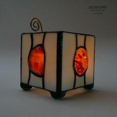Karneol podświetlony. Lampion-świecznik PREZENT / Carnelian highlighted. Lantern-chandelier unusual GIFT. Handmade