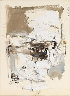 1955 Oil on paper, Joan Mitchell