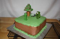 Minecraft Cake Cupcake Cakes, Cupcakes, Minecraft Cake, Cake Ideas, Party, Desserts, Kids, Food, Style