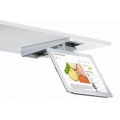 iPad - teline pitämään ruokaohjeen esillä. Voidaan kiinnittää yläkaapin pohjaan jolloin siitä on helppo katsoa mitä kukin haluaa.
