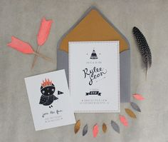 Invite sample - simple border, nice font, cute illustration and clean