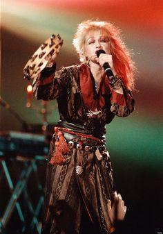 Cyndi Lauper performing in St. Paul, Minn., in 1984.