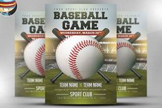 baseball flyer template 2 by flyerheroes on creativemarket sport baseball basketball
