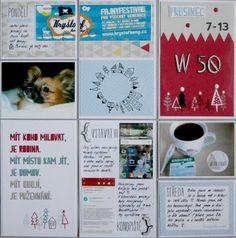Project life 2015 - 50. týden (levá strana) Project Life, 50th, Projects, Log Projects, Blue Prints