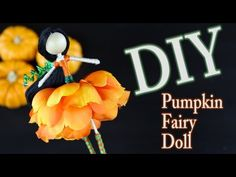 DIY Pumpkin Fairy Doll How To Make A Fairy. DIY Pumpkin Fairy Doll - How To Make A Fairy Doll Its pumpkin season! Learn how to make a Pumpkin Fairy Doll. This is a fun decoration for all of Autumn, Halloween, and Thanksgiving. Worry Dolls, Diy Halloween Decorations, Halloween Crafts, Diy Fairy Wings, Winter Fairy, Fairy Crafts, Clothespin Dolls, Diy Arts And Crafts, Dyi Crafts