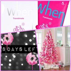 Think Pink Think SEPHORA Think Holiday Travel. 8 days to go. #pink #sephora #happy #tree #holidays #beauty #masks