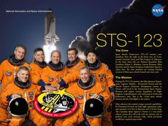 STS-123 Crew poster