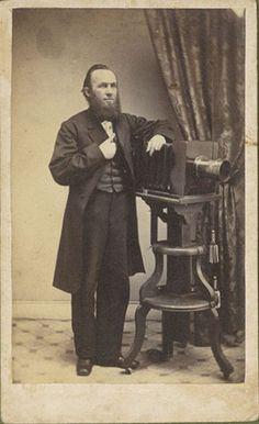 1870 Carte De Visite Portrait Of The Photographer Benjamin Lochman