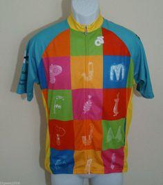Champ-Sys PJM Men's Cycling Jersey  Full Zip Size XL