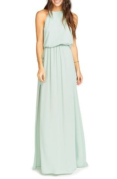 Show Me Your Mumu Heather Chiffon Halter Gown available at #Nordstrom