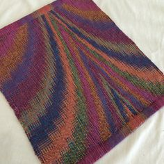 """Side Table Runner, Hand Woven Centerpiece, Short Square Housewarming Gift -14""""x16"""""""