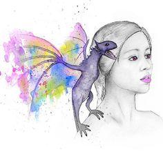 A watercolour and nail polish painting of Daenerys Targaryen . . . .  #art #gameofthrones #daenerystargaryen #artist #artistic #artists #arte #dibujo #myart #artwork #illustration #graphic #color #colour #colorful #painting #drawing #drawings #markers #paintings #watercolor #watercolour #ink #creative #sketch #sketchaday #pencil #cs6 #photoshop #beautiful