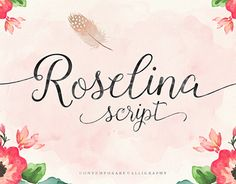 Roselina Script is a contemporary calligraphy, with a vintage feel, style calligraphy with moving baseline and elegant touch. features 340+ glyphs and 105 alternate character, appearance initial letter and terminal letters, can be adjusted by using the gl…