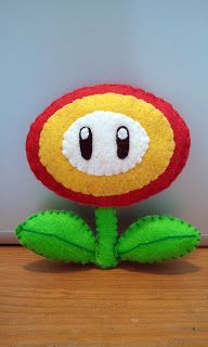 How to Make a Super Mario Fire Flower felt plushie tutorial