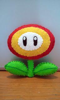 How to Make a Super Mario Fire Flower felt plushie tutorial