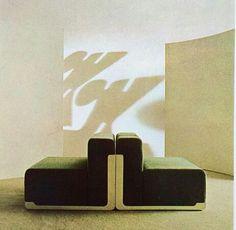 "// ""Raymond"" sofa by Kazuhide Takahama. Arredamento Moderno, 1966."
